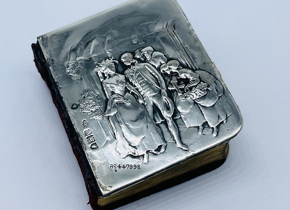 Antique Solid Silver Miniature Hymn Book William Comyns London 1904