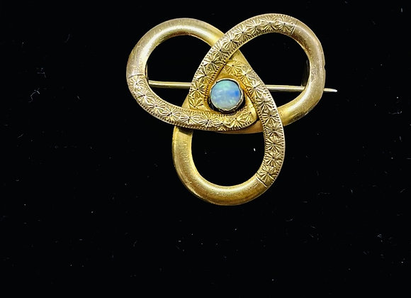 Neoclassical Revival Period 9ct Gold & Opal Brooch C1920