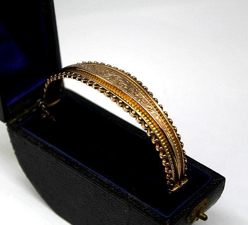 Edwardian 9ct Gold Bangle in Orginal Presentation Box 1910
