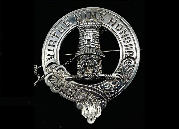 Silver Mclean Clan Brooch Hallmarked Edinburgh 1969