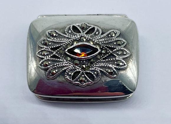 Delightful Antique Continental Silver Pill Box C1930