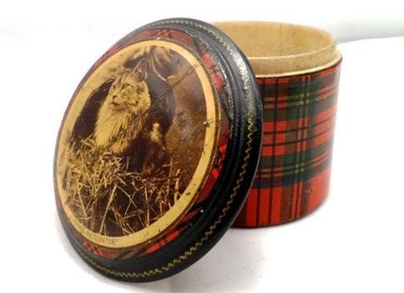 Victorian Mauchline 'clan Stuart' Tartan Ware - Box & egg-timer