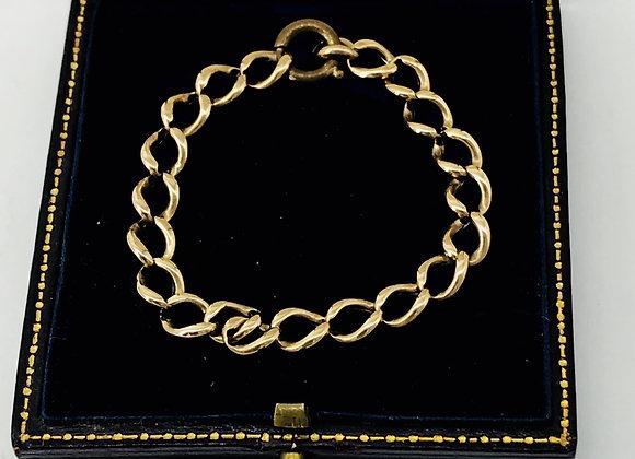 Victorian 9ct Gold Childs Christening Bracelet C1880