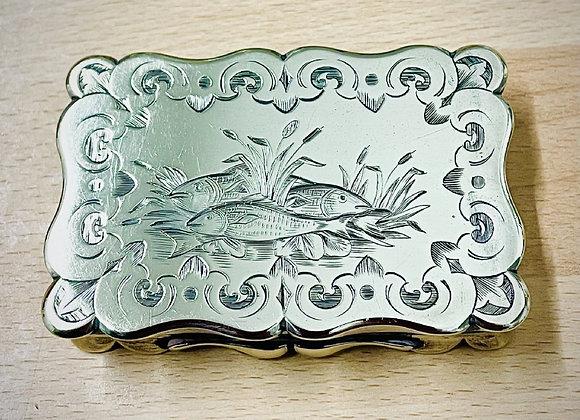 Mid Victorian Silver Snuff Box