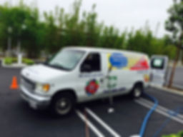 TRUCK SET UP AND SAFETY FOR A COMMECIAL CARPET CLEANING