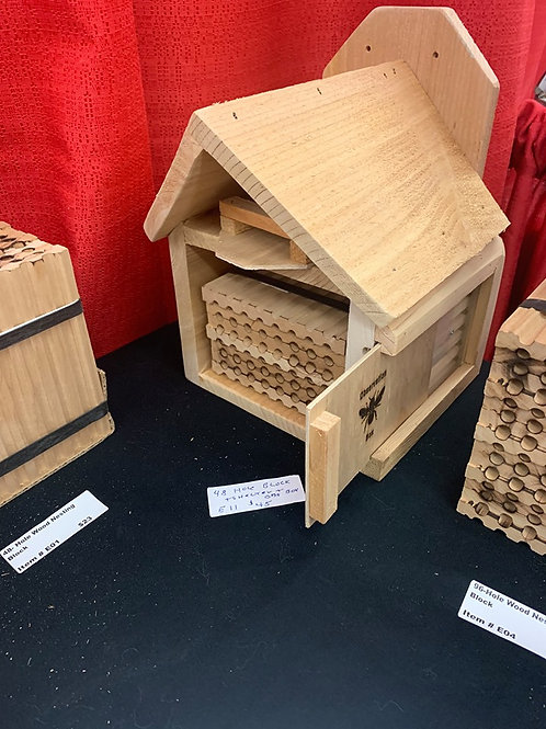 48-Hole Nesting Block Plus Shelter Plus Observation Box