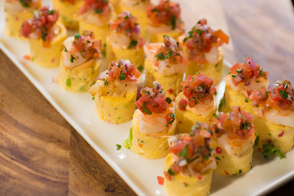 Chipotle Roasted Shrimp on Polenta