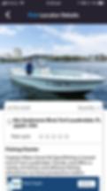 Fishlocator app search details