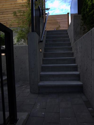 Moody Park - pavers & concrete stairs
