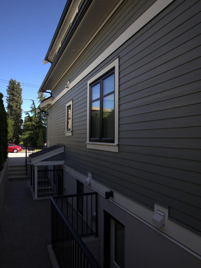 Moody Park - pavers / exterior wall