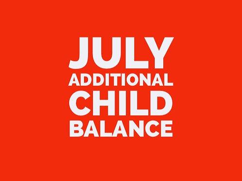 July Additional Child - Balance