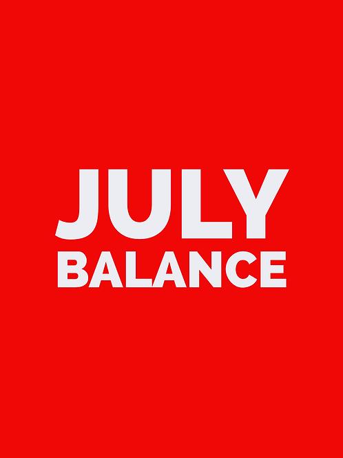 JULY BALANCE PAYMENT