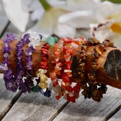 Bracelets Baroques, Améthyste, 7 chakras, Cornaline et Oeil de tigre