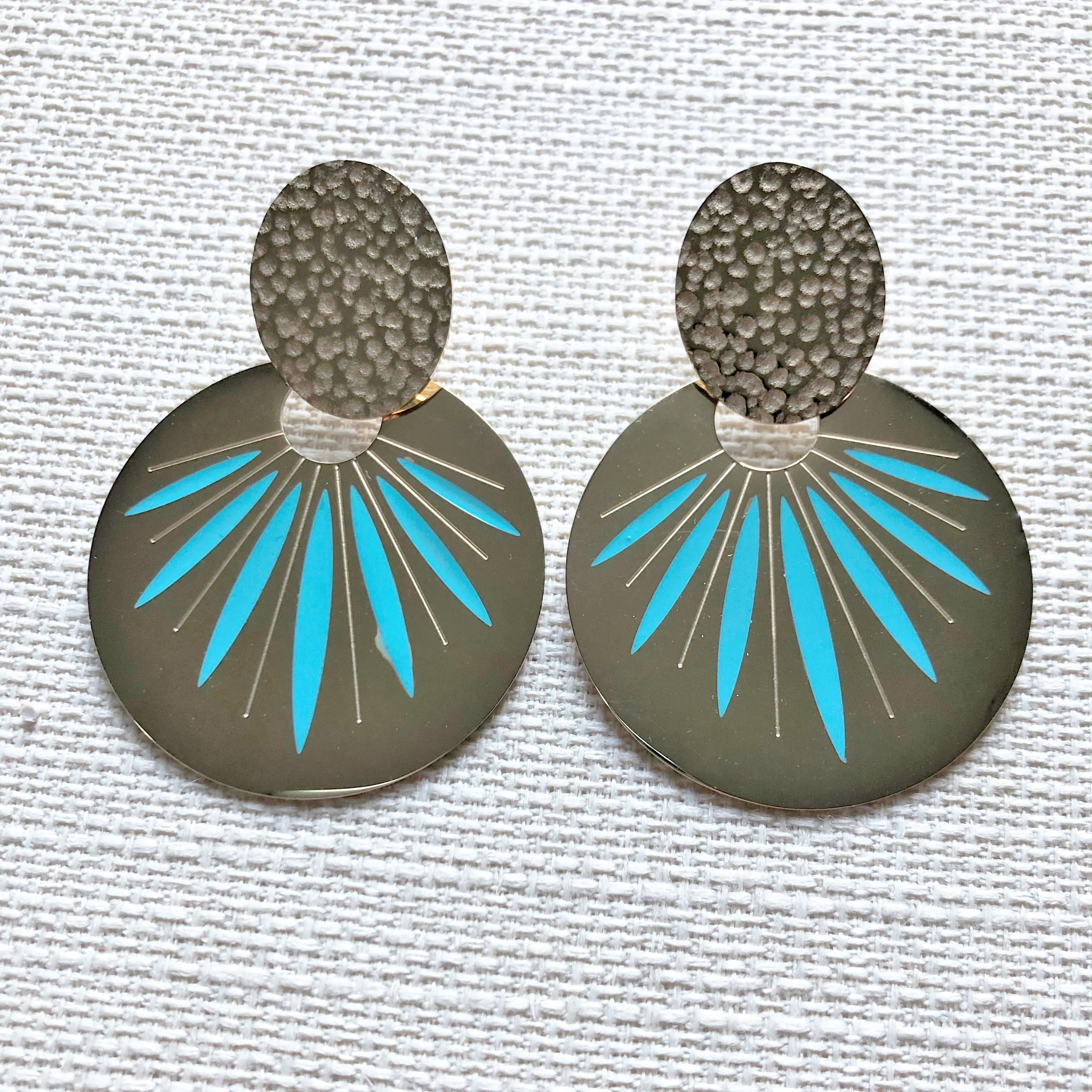 OVAL TURQUOISE 22 €