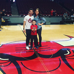 Stepping on the same court as greatness! Happy Birthday Chance! Love you and _shelbmas thank you  _j