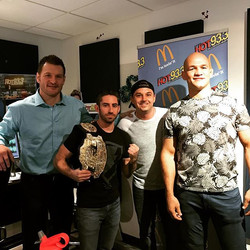 I beat up everyone in the room to win this _ufc Championship belt! Thanks _stipemiocicufc & _junior_