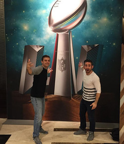Hanging downtown Houston for the Super Bowl!! _scottykonair _hot933hits