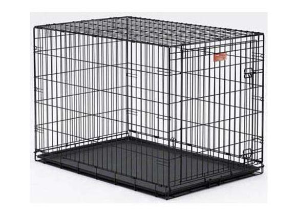 Midwest Life Stages Single Door Dog Crate Black 42″ x 28″ x 31″ –