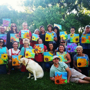 Painting Sunflowers at The Wines of the San Juan!