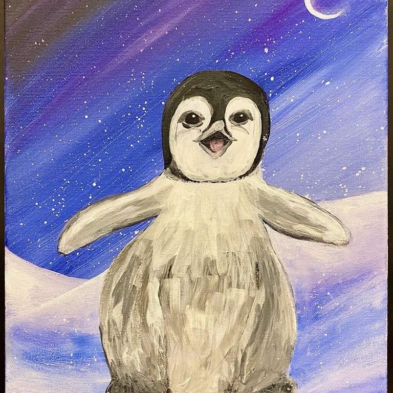 Recording of The Baby Penguin Paint Night