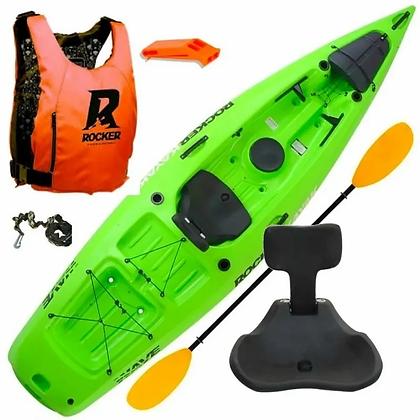 Kayak Rocker Wave + Remo + Butaca + Chaleco + Remo