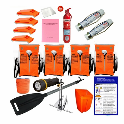 Kit Reglamentario De Seguridad Embarcaciones S/cabina
