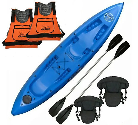 Kayak Triple Sportkayak Familiar Completo Doble