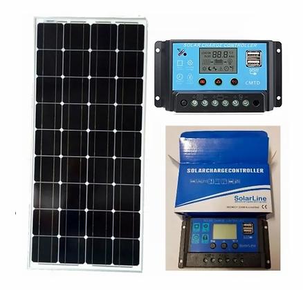 Panel Solar Solar 170 Watt + Regulador 20 Amper P/ Motorhome
