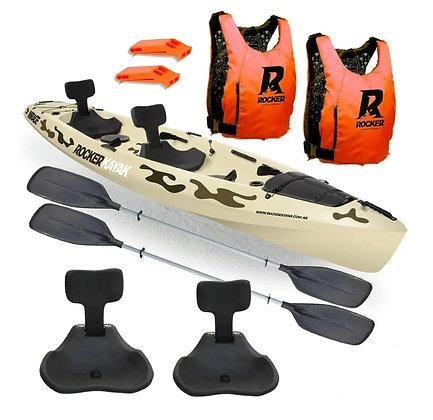 Kayak Rocker Mirage Camuflado + 2 Chalecos + 2 Silbatos