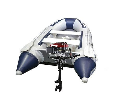 Bote Gomon Piso Aluminio Desarmable + Motor 7 Hp 4t