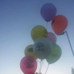 Balloons for the kids at Movie Night