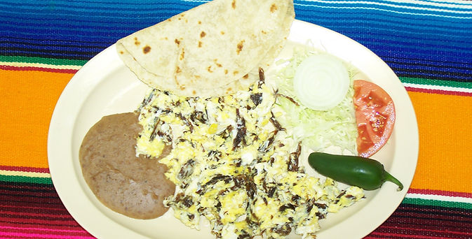 Our specialty.. Machacado and Eggs!!