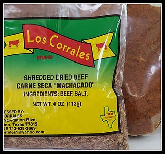 Machacado and Chorizo made on site!