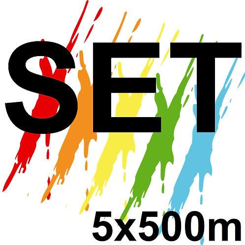 SET 5x500ml- UV Pikment DTG Tshirt Drucker Farbe Ink
