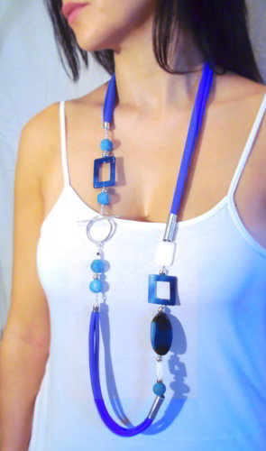 blue necklace, fashion necklace