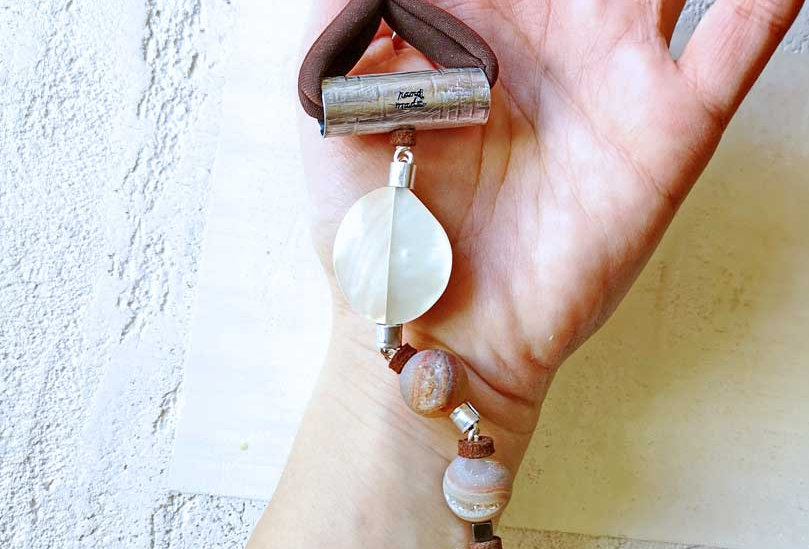 Brown mother of pearls bracelet