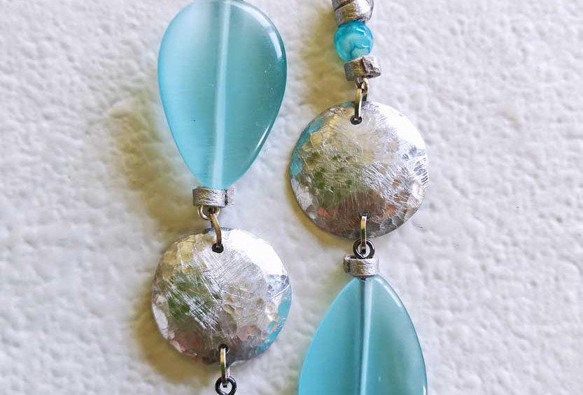 Sea green Asymmetric Earrings