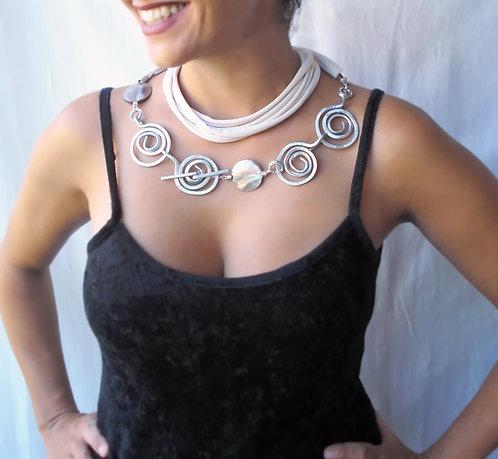 Spiral Statement Necklace, versatile necklace