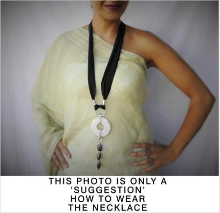 Statement labradorite necklace