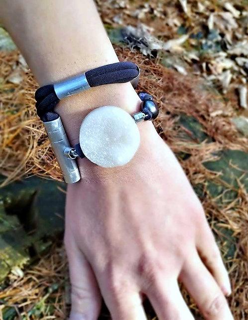 Druzy bracelet, Raw gemstone bracelet