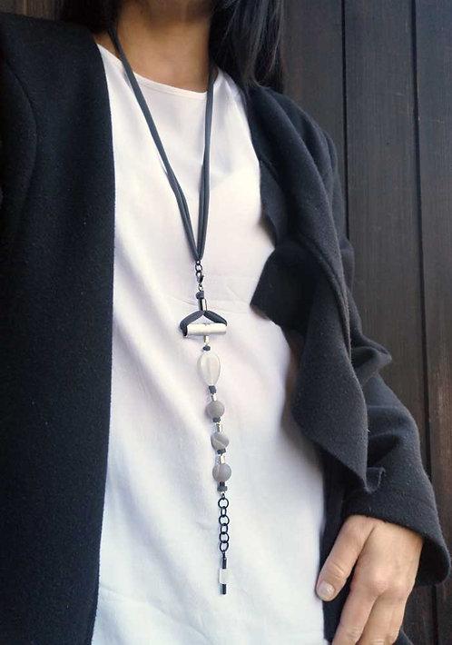 Versatile Bracelet wearing as Necklace, Fashion grey bracelet