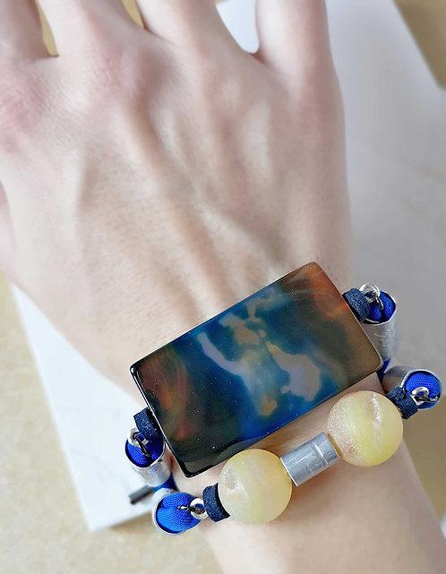 cobalt statement bracelet