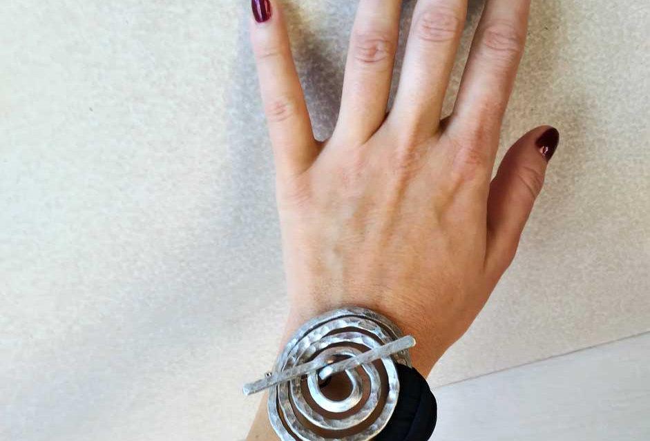 Aluminum spiral bracelet, modern bracelet