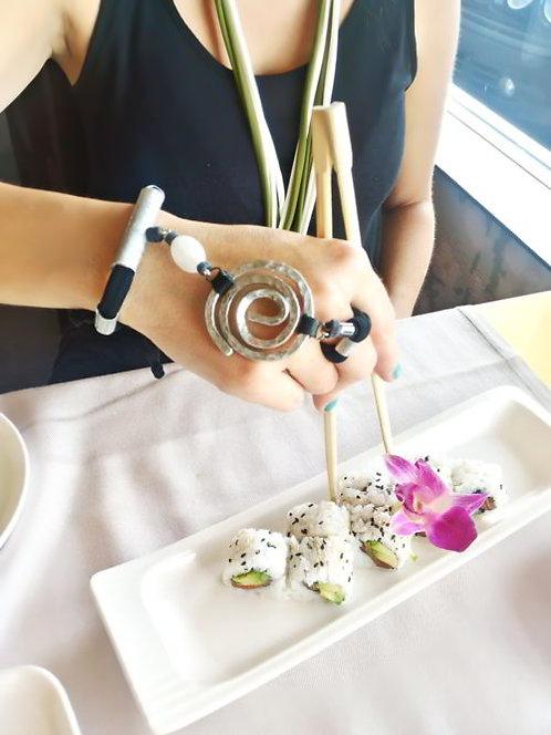 Black ring bracelet, slave bracelet