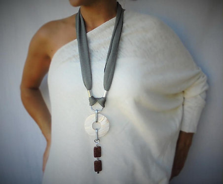 Statement Necklace with Agate stones