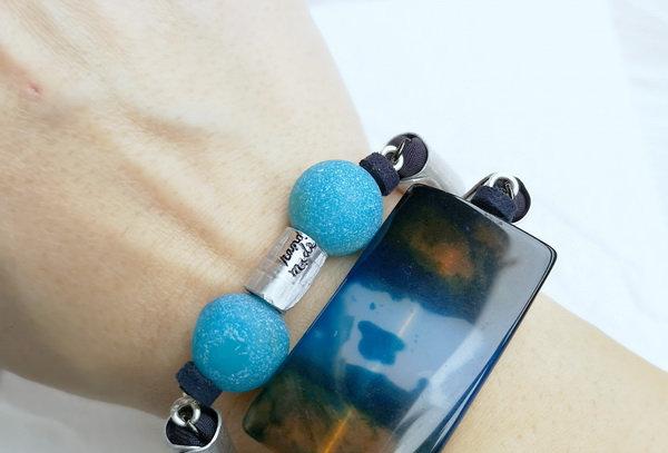 statement agate bracelet