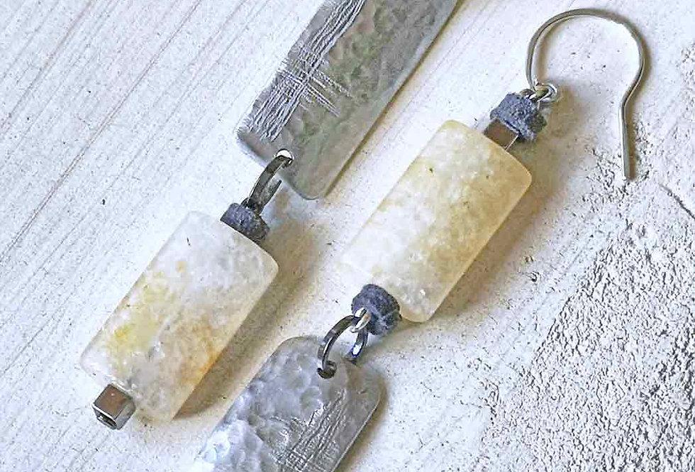 Asymmetric  Long earrings