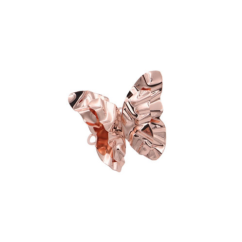 "Rose gold ""Butterfly"" FOLD open ring"