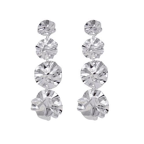 Gradient FOLD disc earrings