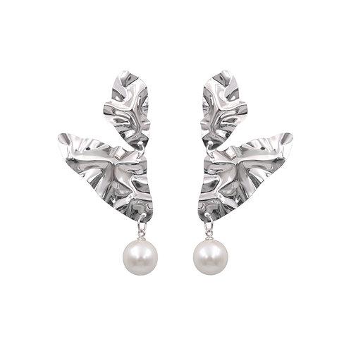 White gold 'Wings' FOLD earrings